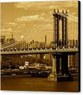 Williamsburg Bridge New York City Canvas Print