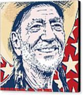 Willie Nelson Pop Art Canvas Print by Jim Zahniser