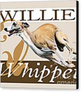 Willie The Whippet Canvas Print by Liane Weyers