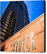 Willis-sears Tower Skydeck Sign Canvas Print by Paul Velgos