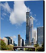 Willis Tower And 311 South Wacker Drive Chicago Canvas Print by Christine Till