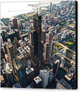 Willis Tower Chicago Aloft Canvas Print by Steve Gadomski