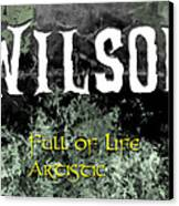 Wilson - Full Of Life Artistic Canvas Print by Christopher Gaston