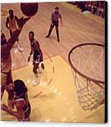 Wilt Chamberlain Finger Roll  Canvas Print by Retro Images Archive
