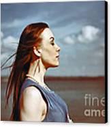 Wind In Her Hair Canvas Print by Craig B
