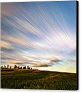 Wind Stream Streaks Canvas Print by Matt Molloy