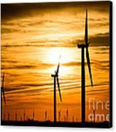 Wind Turbine Farm Picture Indiana Sunrise Canvas Print