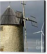 Wind Turbines And Windfarm Canvas Print