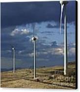 Wind Turbines. Region Auvergne. France Canvas Print by Bernard Jaubert