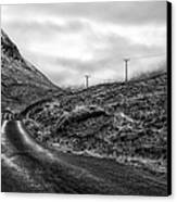 Winding Road In Glen Etive Canvas Print by John Farnan