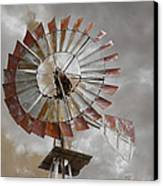 Windmill Canvas Print by Steven Michael