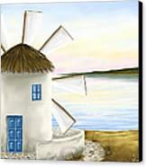 Windmill Canvas Print by Veronica Minozzi