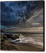 Windnsea Stormy Canvas Print by Peter Tellone
