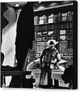 Window Shopping Cowboy Canvas Print