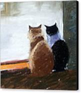Window Watching Canvas Print