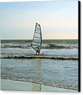 Windsurfing Canvas Print by Ben and Raisa Gertsberg