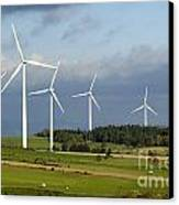 Windturbines Canvas Print by Bernard Jaubert