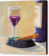Wine And Cigar Canvas Print by Todd Bandy