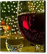 Wine And Lights Canvas Print by Micah May
