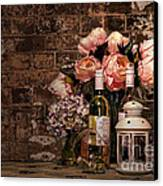 Wine And Roses Canvas Print