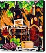 Wine Canvas Print by Angelika Bentin