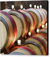 Wine Barrels Canvas Print
