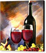 Wine Before And After Canvas Print
