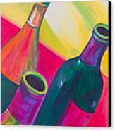 Wine Bottles Canvas Print by Debi Starr