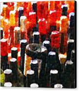 Wine Bottles In Cases Painting Canvas Print