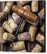 Wine Corks Celebration Canvas Print by Garry Gay