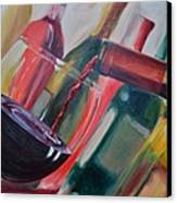 Wine Pour IIi Canvas Print by Donna Tuten