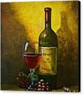 Wine Shadow Ombra Di Vino Canvas Print by Italian Art