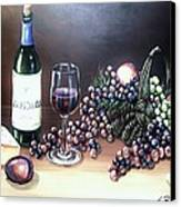 Wine Time Canvas Print by Kimberly Blaylock