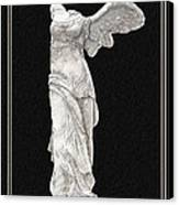 Winged Victory - Nike Of Samothrace Canvas Print by Jerrett Dornbusch