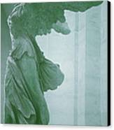 Winged Victory Of Samothrace Statue At The Louvre Museum        Canvas Print by The Art With A Heart By Charlotte Phillips