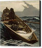 Winslow Homer The Fog Warning Canvas Print