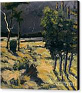 Winter And Spring Ravaged Eel River Canvas Print