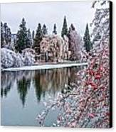 Winter Berries Canvas Print by Nichon Thorstrom