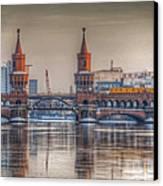 Winter Bridge Canvas Print by Nathan Wright