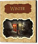 Winter Button Canvas Print