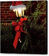 Winter - Christmas - It's Going To Be A Cold Night Canvas Print by Mike Savad