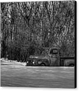 Winter Ford Truck 1 Canvas Print by Thomas Young