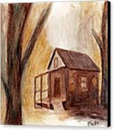 Winter Hideaway Canvas Print by Andrea Friedell
