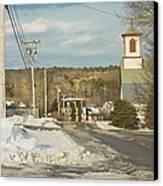 Winter In Round Pond Maine Canvas Print