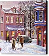 Winter In Soulard Canvas Print by Edward Farber