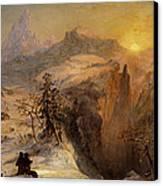 Winter In Switzerland Canvas Print by Jasper Francis Cropsey
