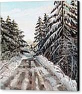 Winter In The Boons Canvas Print by Shana Rowe Jackson