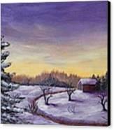 Winter In Vermont Canvas Print by Anastasiya Malakhova