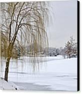 Winter Landscape Canvas Print by Julie Palencia