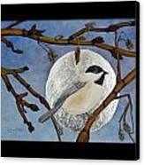 Winter Moon Canvas Print by Amy Reisland-Speer